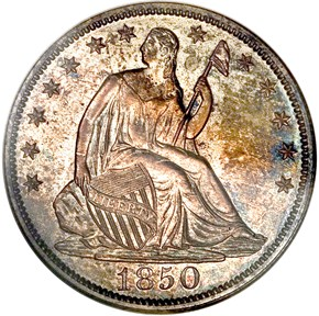 1850 50C PF obverse