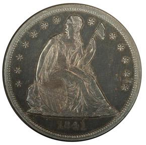 1841 S$1 PF obverse
