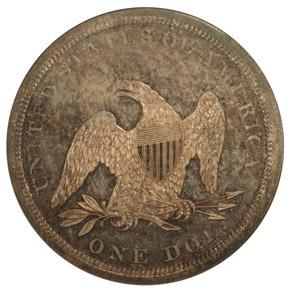 1842 S$1 PF reverse