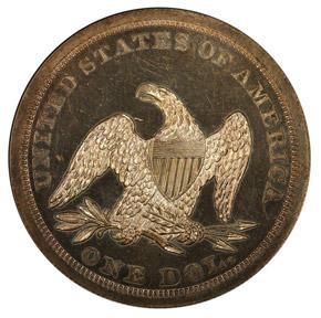 1844 S$1 PF reverse