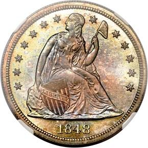 1848 $1 PF obverse