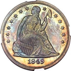 1849 $1 PF obverse