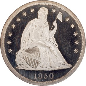1850 S$1 PF obverse