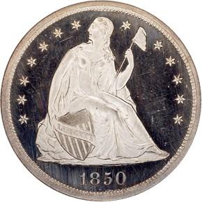 1850 $1 PF obverse
