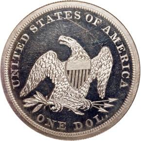 1850 $1 PF reverse