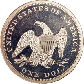 1853 S$1 PF reverse