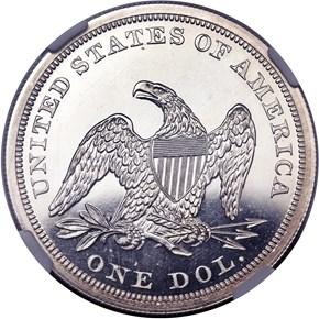 1853 $1 PF reverse