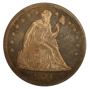 1854 S$1 PF obverse