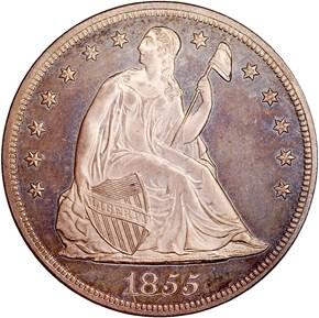 1855 S$1 PF obverse