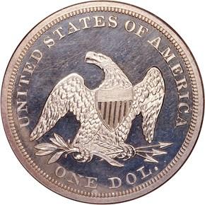 1857 S$1 PF reverse