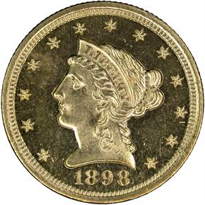 1898 $2.5 PF obverse