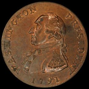 1791 LARGE EAGLE WASHINGTON PRESIDENT 1C PF obverse