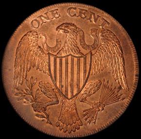 1791 LARGE EAGLE WASHINGTON PRESIDENT 1C PF reverse