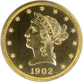 1902 $10 PF obverse