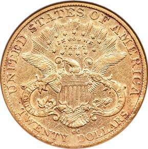 1891 CC $20 MS reverse