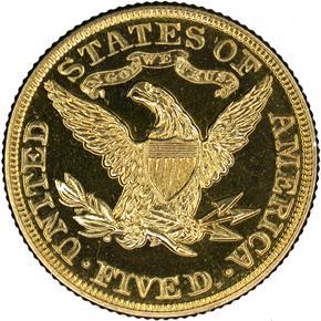 1905 $5 PF reverse