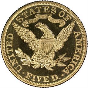 1906 $5 PF reverse