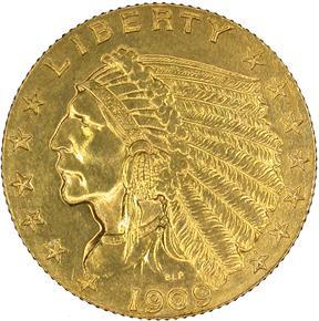 1909 $2.5 PF obverse
