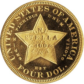 1880 COILED HAIR $4 PF reverse