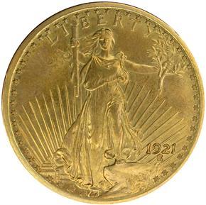 1921 $20 SP obverse
