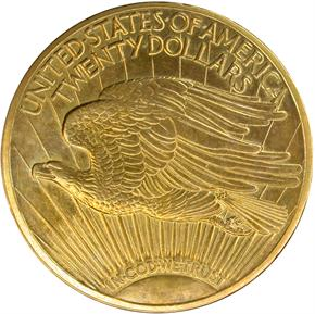 1921 $20 SP reverse