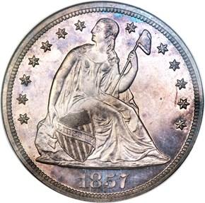 1857 $1 PF obverse