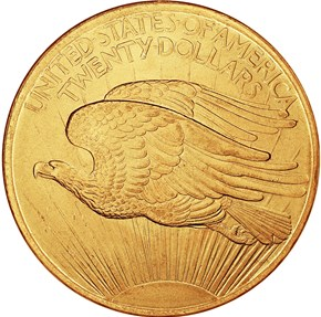1907 SAINT GAUDENS $20 MS reverse