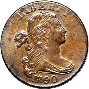 1800 80/79 2ND HAIR 1C MS obverse
