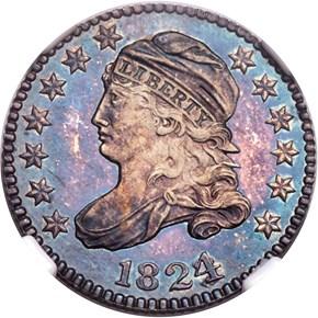 1824/2 10C PF obverse