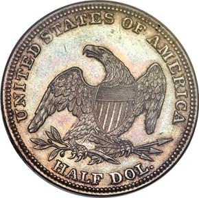 1839 O 50C PF reverse