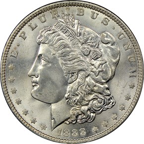 1888 $1 MS obverse