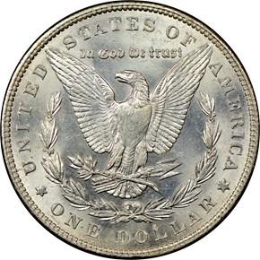 1888 $1 MS reverse