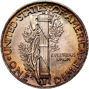 1942 10C MS reverse