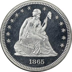 1865 25C PF obverse