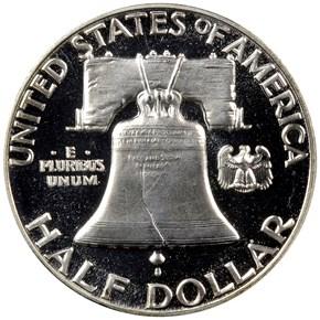 1955 50C PF reverse