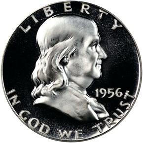 1956 TYPE 2 50C PF obverse