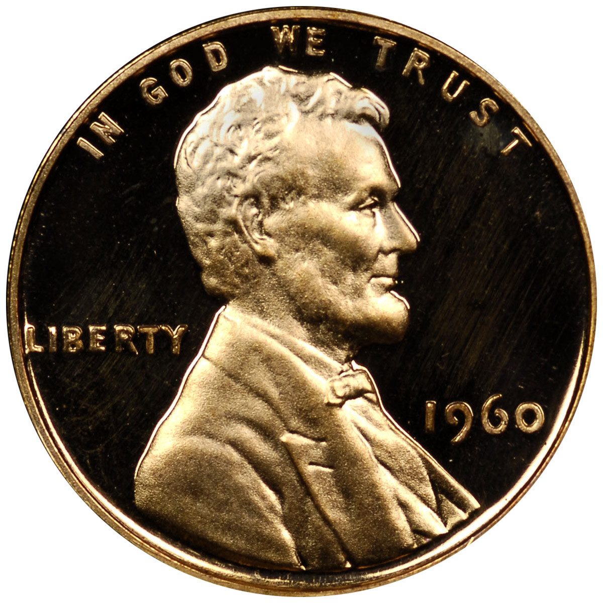 1960 PROOF LINCOLN MEMORIAL CENT 1C SMALL DATE NGC CERT PF PR 68 RD