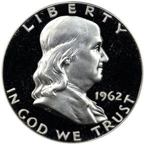 1962 50C PF obverse