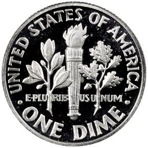 1963 10C PF reverse