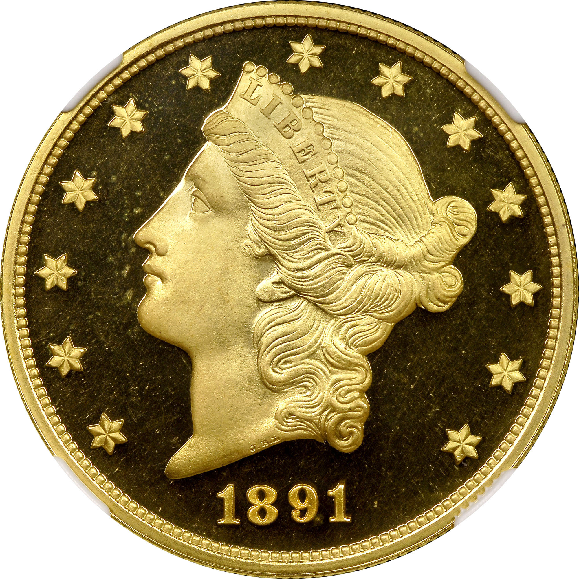 1891 $20 PF Liberty Head $20   NGC