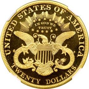 1891 $20 PF reverse