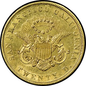 1855 KELLOGG & CO. $20 MS reverse