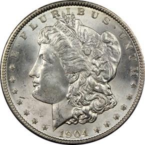 1904 $1 MS obverse