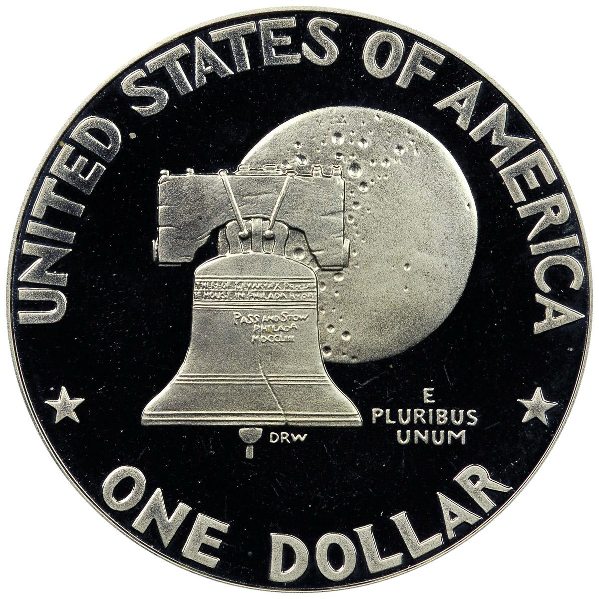 1976 S SILVER Eisenhower Dollar PROOF Ike $1 Bicentennial One Dollar Ike Coin