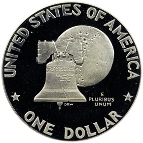 1776-1976 S SILVER $1 PF reverse