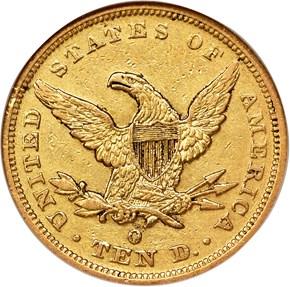 1849 O $10 MS reverse