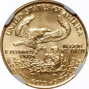 1987 EAGLE G$5 MS reverse