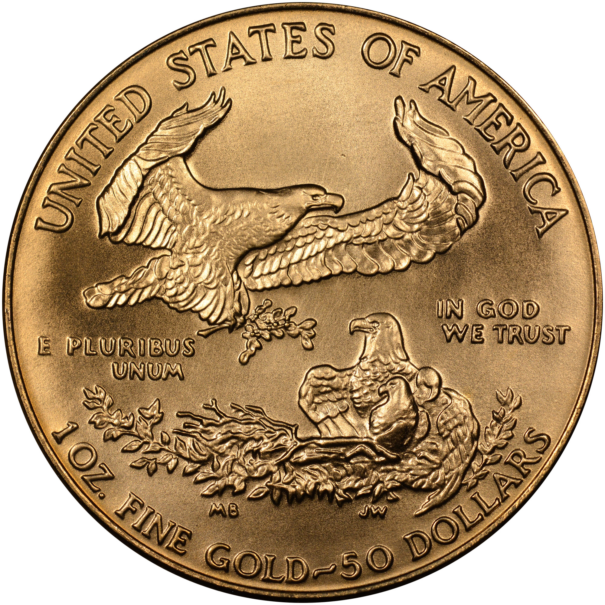 1987 Eagle G 50 Ms Gold Eagles 50 Ngc