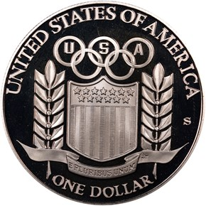 1992 S OLYMPICS S$1 PF reverse