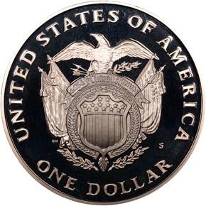 1994 S U.S. CAPITOL BICENTENNIAL S$1 PF reverse